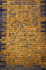 Detail of a Babylonian city wall in Pergamon museum, Berlin, Germany