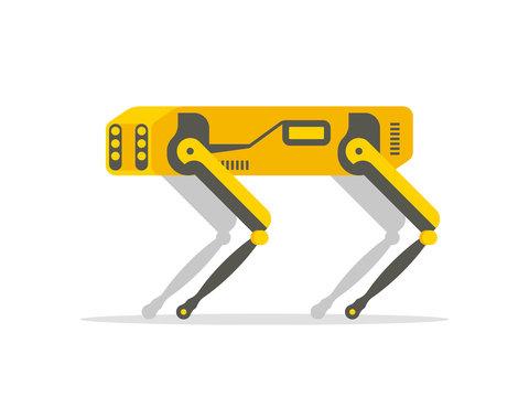Mechanical robot dog Innovation in high technology