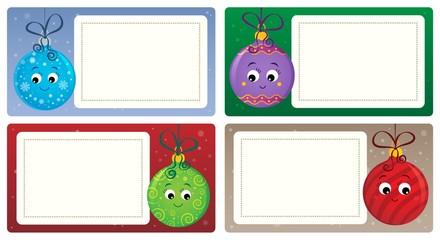Deurstickers Voor kinderen Stylized Christmas theme cards 4
