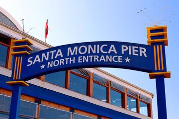 Santa Monica, California – October 4, 2019: Santa Monica Pier North Entrance view