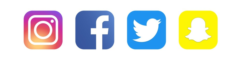 Instagram, Facebook, Twitter, Snapchat - collection of popular social media, messengers. Editorial only. Kyiv, Ukraine - December 11, 2019
