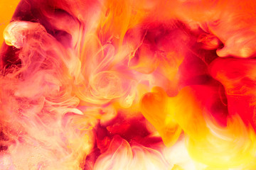 Abstract liquid yellow red fire background. Passion, sexual sensual love. Valentine's day concept,...