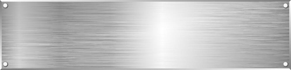 Poster de jardin Metal metal textured plaque