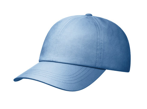 Jeans cap on a white background.