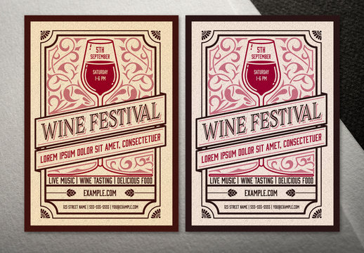 Wine Event Poster Layout