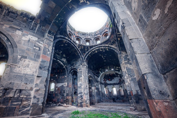 Talin Cathedral in Aragatsotn Province, Armenia.