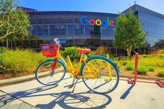 Googleplex bike of employees