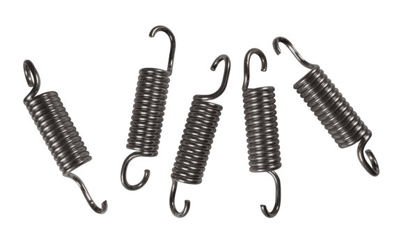 Metal springs isolated