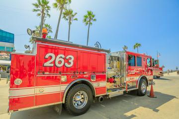 Los Angeles fire trucks