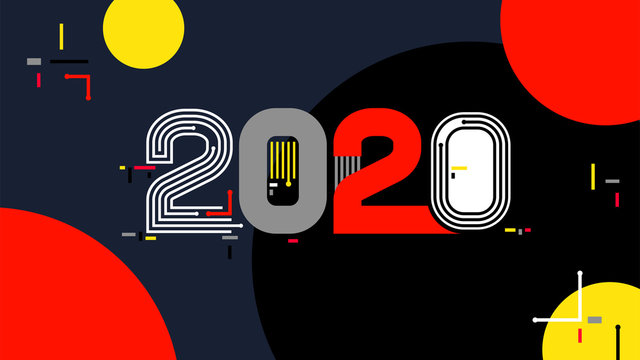 2020 graphic text number technology