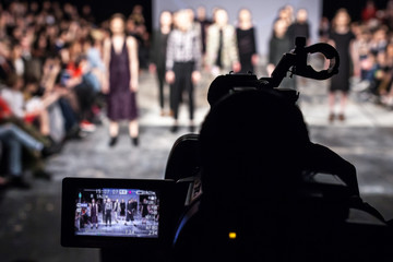 Wall Mural - Televison Camera Broadcasting a Fashion Show
