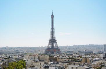 Acrylic Prints Eiffel Tower Eiffel Tower rises above the city of Paris