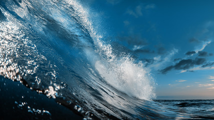 Wall Mural - The Most Beautuful barrel surfing wave, ocean water, aquatic sport media