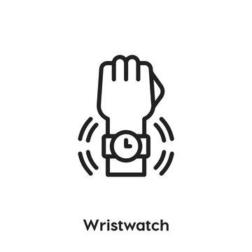 wristwatch icon vector. wristwatch icon vector symbol illustration. Modern simple vector icon for your design. wristwatch icon vector.