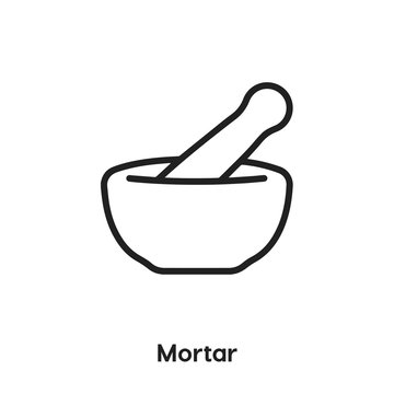 mortar pestle icon vector sign symbol