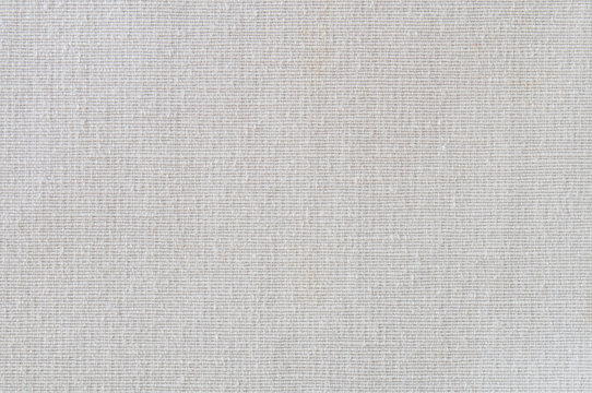 Closeup white,beige,light grey color fabric sample texture backdrop.White fabric strip line pattern design,upholstery for decoration interior design or abstract background.