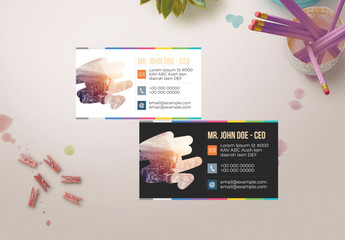 Colorful Business Card Layout