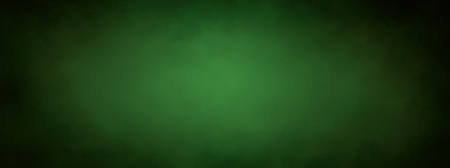 green Christmas background banner with black border and grunge metal texture design and soft center lighting