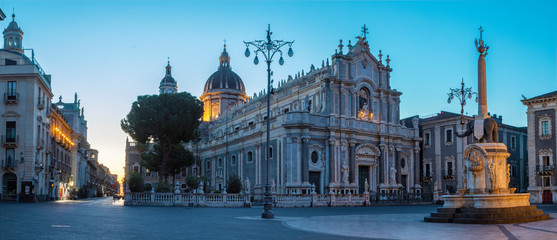 Wall Mural - Catania - The Basilica di Sant'agata at morning dusk.