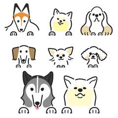 犬 ポーズ 表情 セット 飾り