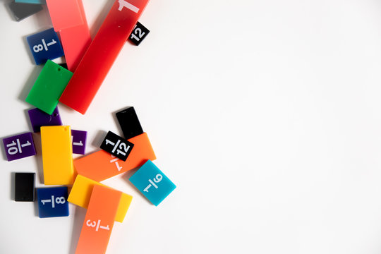 Math Fractions Manipulatives for Classroom