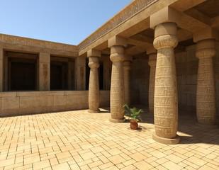 Egyptian Palace 3D Illustration Fantasy Old Kingdom