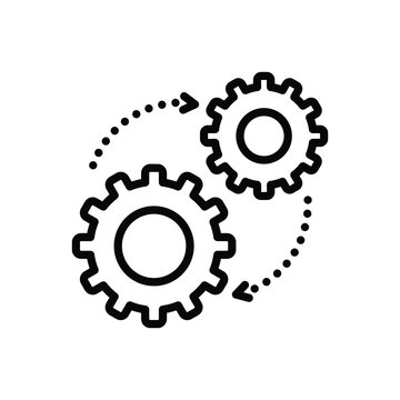 Black line icon for mechanism