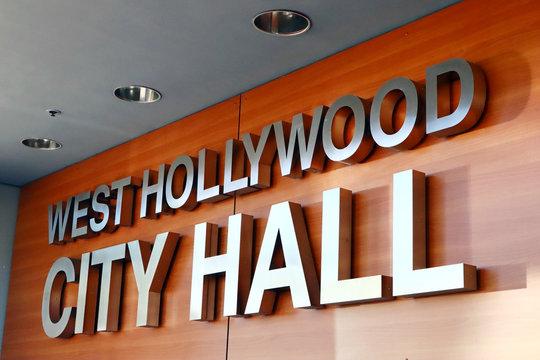 West Hollywood City Hall on Santa Monica Boulevard, West Hollywood, California