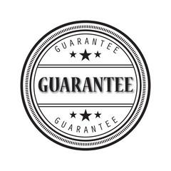 Grunge black guarantee word round rubber seal stamp on white background