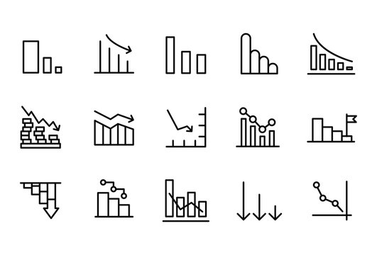 Simple set of loss modern thin line icons.