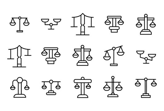 Simple set of scale modern thin line icons.