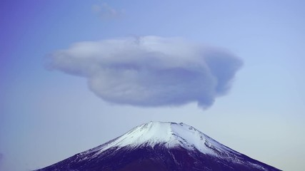 Wall Mural - Mountain fuji with Lenticular Cloud, Yamanaka Lake, Japan