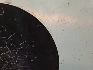 Cracks pattern of plastic sheet