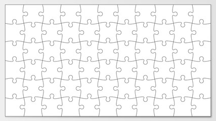 Jigsaw puzzle outline vector