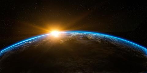 Fototapeta earth and sun