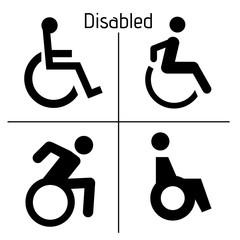 Toilet Disabled Sign Restrooms  Door Stiker Restroom Men Woman Vector