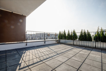 small terrace in new build flat