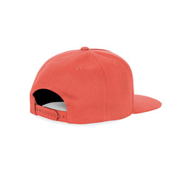 With these Side View Dancer Cap Mock Up In Living Coral Color templates you don't have to wait for your artwork to be done.