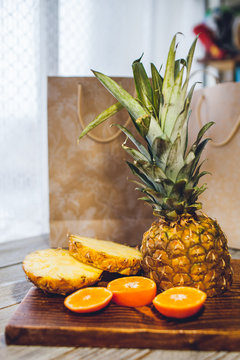 pineapple on the table