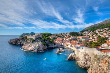 Fond de hotte en verre imprimé Nice Coastline Dubrovnik