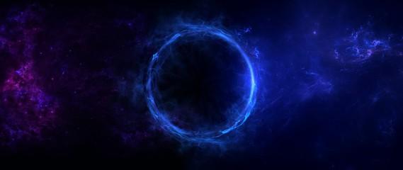 Planets, galaxy, Universe, Event Horizon, Singularity, Gargantuan, Hawking Radiation, String Theory, Super Gravity, High Energy, Black Hole Fototapete