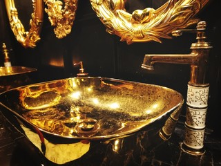 Gold wash basin luxury interior Fototapete