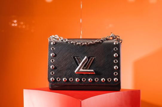 Milan, Italy - February 23, 2018: Louis Vuitton bag in a Louis Vuitton store in Milan.