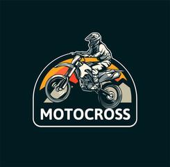 Estores personalizados esportes com sua foto motocross badge emblem patch sign logo motocross design vector sticker