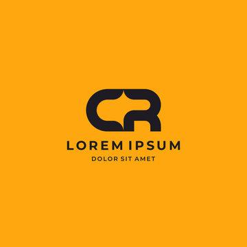 CR. Monogram of Two letters C&R. Luxury, simple, minimal and elegant CR logo design. Vector illustration template.