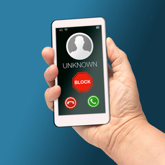 Block unknown number mobile cell phone call