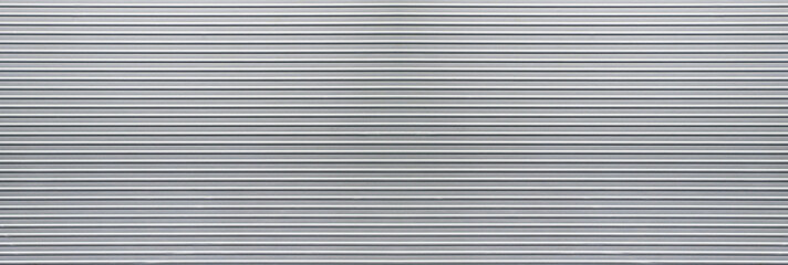 Large metal banner gray corrugated background