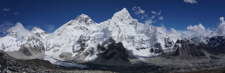 Foto auf AluDibond Blaue Nacht Everest Panorama