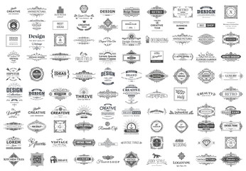 Collection of vintage logos and symbols.