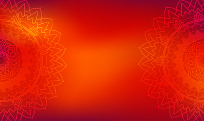 Background theme with mandala patterns